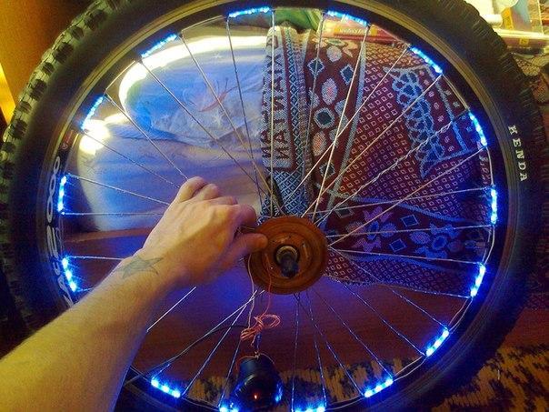 Как сделать подсветку на велосипед из светодиодной ленты